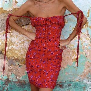 Rat and boa fia dress